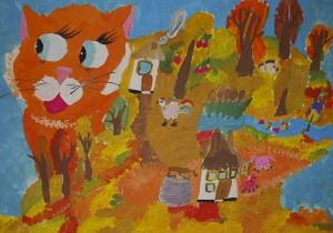 Анастасія Гривул Осінь - рижий котик Дніпропетровськ Особлива відзнака за живописність